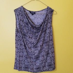 Sleeveless blouse in a size large